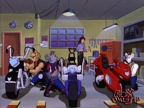 Мультик - Мыши-байкеры с Марса: 1-7 Мотоциклистка в маске